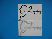 2 x Nurburgring car sticker decal