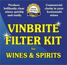 Wine Making Filter Kit Gravity Free System 1-2 Gallons At A Time Vinbrite 6 Pads