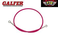 "CBR 600 Galfer Pink 36"" Extended Rear Brake Line for Swingarm Extensions"