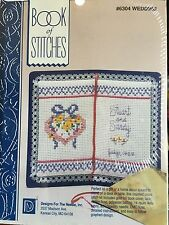 Designs for the Needle cross stitch book of stitches kit wedding 6304 NIP