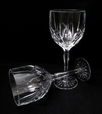 STUNNING PAIR OF WATERFORD MARQUIS CRYSTAL BROOKSIDE WINE GOBLETS GLASSES