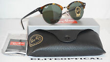 New Authentic RAY BAN CLUBROUND Gunmetal Tortoise/Geen Classic G-15  RB4246 1157