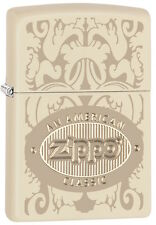 "Zippo Lighter ""Cream Matte American Classic"" No 28854  - New"