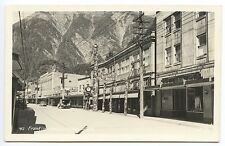 Juneau AK Franklin Street Nugget Shop Store Fronts Old Cars Real Photo Postcard