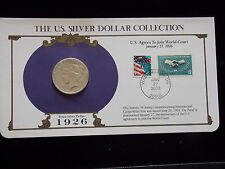 1926 Peace Dollar USPS Commemorative (US Agrees to Join World Court) with Stamps