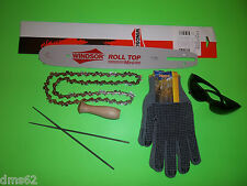 "NEW 14"" BAR & CHAIN GLOVES FILES FITS ECHO CHAINSAWS 3/8 52 L 14PKU50SSR"