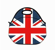 UNION JACK GOURMET LUNCH INSULATED BAG TOTE FOR HANDBAG SCHOOL LUNCHES TRAVELING