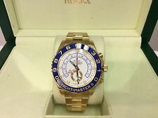 NEW ROLEX Ref. 116688 YACHTMASTER II 44mm 18K Y/Gold Automatic Watch! Beautiful!