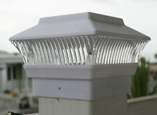 8 White 4 X 4 Outdoor Garden Solar Post Deck Cap Square Fence Lights (PC248)