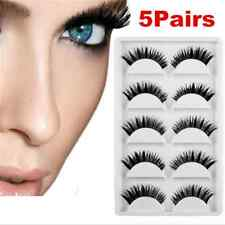 5 Pair Sexy Thick Long False Eyelashes Mink Eye Lashes Natural Makeup Tips FT