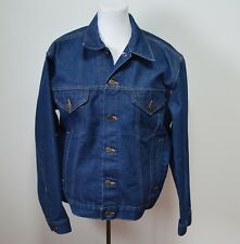 Big Mac Denim Trucker Medium Jacket Blue Jean Vtg JC Penney Union Made Work Farm
