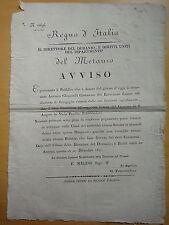 1811-AVVISO-REGNO D'ITALIA-SENIGALLIA-SANT'ANGELO IN VADO