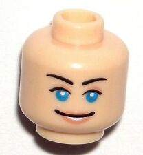 LEGO MINIFIGURE HEAD Indiana Jones Marion Ravenwood Female/Scared/Smile/Blue Eye