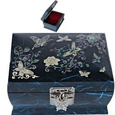 Korea Antique Jewelry Box Mother of Pearl Jewelry Box Music Jewelry Box HJML2001