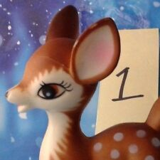 "Vintage Plastic Bambi Style Fawn Standing Deer 6""T Christmas Decor 1 of 5 Japan"