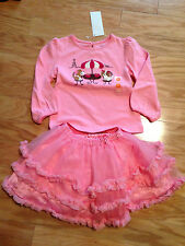 NWT Gymboree LOT Parisian Chic Puppy Cafe Top Shirt Soft Pink Tulle Skirt 2 2T