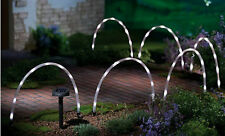 6 X LED TUBE SOLAR POWERED LAMPS GARDEN STICK LIGHTS BORDER PATH EDGING BRIGHT