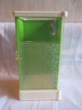 Vintage Fisher Price Dollhouse Doll house Green Shower 253 Bathroom 1978-1984