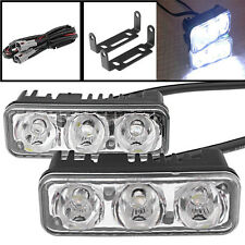 2x 3LED 12W Super White Car Headlight Daytime Running Light DRL Driving Fog Lamp