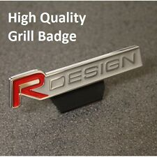 Front R DESIGN Grill Badge Emblem Decal Logo Sticker Red Car Grille 111rg