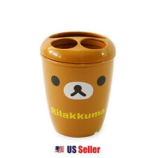 San-x Rilakkuma Plastic Tooth Brush Tooth Paste Holder Bathroom Bath Organizer