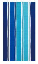 GRANDE Telo Spiaggia Estiva a Righe Nuoto Da Viaggio Palestra Miller a righe blu