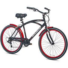 "26"" Mens Kent Bayside Cruiser Retro Bike Shimano 7 Speed steel frame Bicycle New"