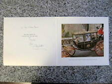 Elizabeth, Queen Mother - Hand Signed Card  to KING & QUEEN of Greece - Royal