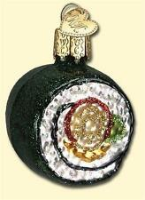 SUSHI ROLL OLD WORLD CHRISTMAS GLASS CHINESE ASIAN FOOD ORNAMENT NWT 32110