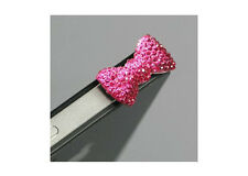 Headphone Jack AntiDust Plug Apple iphone 5 5s 6 6S plus Pink BOW Bling 3x Plugs
