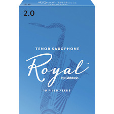 Rico Royal Tenor Saxophone Reeds Strength 2, Box of 10