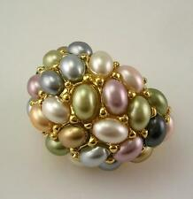 Kenneth Jay Lane Innaugural Ring  PASTEL  size 8