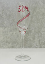 50th Birthday Champagne Glass Flute | Unique Gift for Her |  Keepsake Idea