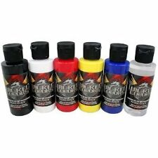 Createx Wicked Airbrush Paint Color Set 6 Primary Colors - Craft, Art W101 - 00