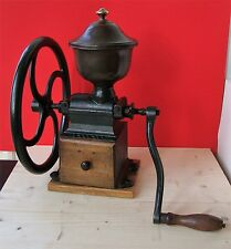 ANTIQUE PEUGEOT FRERES BIG COFFEE GRINDER MILL C 2 HAND CRANK BALANCE WHEEL