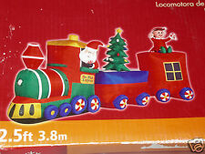 New GEMMY OVER 12' Lighted Animated Christmas Santa Train Inflatable Airblown