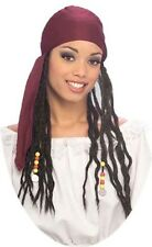 Rubies Halloween Adult Pirate Bandana W/ Dreadlocks Burgundy Bandana New 49589