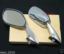 8mm VINTAGE CLASSIC UNIVERSAL CHROME SPORT HEAD MUSCLE CAR SIDE FRONT MIRRORS