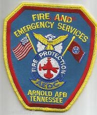 "Arnold A.F.B. - A.E.D.C., TN  (4.25"" x 4.75"" size)   fire patch"