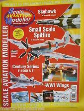 SCALE AVIATION MODELLER SEPTEMBER 1999 SKYHAWK SPITFIRE WWI WINGS
