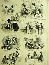 Centennial 1876 Food OYSTERS PORK & BEANS CORNED BEEF FRIED EELS Black Waiters
