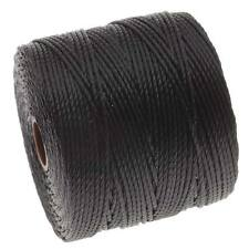 BeadSmith Super-Lon Cord - Size #18 Twisted Nylon - Black / 77 Yard Spool