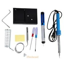 9in1 60W Electric Soldering Tools Welding Kit Set w/ Iron Stand Desoldering #T1K