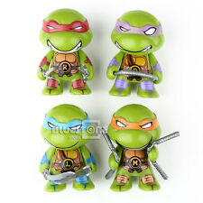 4 PCS Teenage Mutant Ninja Turtles TMNT Cute Action Mini Figure Toys Collection