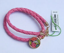 "VERA BRADLEY BRAIDED CHARM BRACELET in ""LOLA"" - COLORFUL NWT & Non-smoking Home"