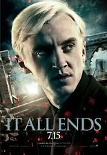 "Harry Potter movie poster - Deathly Hallows 11"" x 17"" Tom Felton poster (a)"
