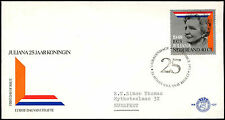 Netherlands 1973 Queen Juliana's Silver Jubilee FDC First Day Cover #C27515