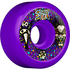 "New Set BONES SPF Staab ""Scientist"" Skateboard Wheels (Purple): 60mm / 84B"