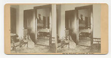 Ca. 1890's STEREOVIEW PHOTO OF ANITA STUEHRK IN PARLOR HOLDING A STEREO VIEWER