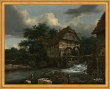 Two Watermills and an Open Sluice Jacob Isaacksz. van Ruisdael Mühle B A1 02324